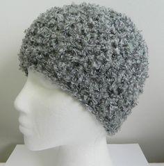 Gray Beanie Grey Beanie Crocheted Gray Beanie by GalianoCrochet
