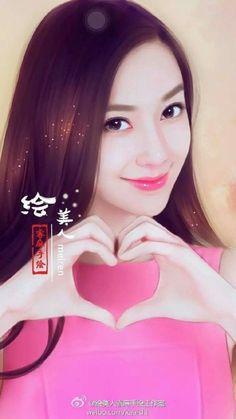 Lovely Girl Image, Cute Girl Pic, Korean Art, Asian Art, Pictures To Draw, Girl Pictures, Girly Dp, Japanese Drawings, Cute Girl Wallpaper