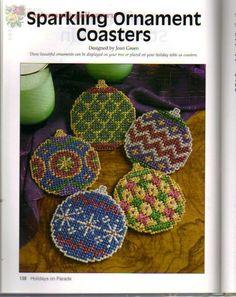 Sparkling Ornament Coasters 1/3