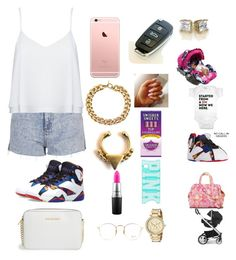 """""""Layla came to see tete 💕😊"""" by manija-jones on Polyvore featuring Topshop, Alice + Olivia, Jordan Brand, MICHAEL Michael Kors, Michael Kors, Forever 21, MAC Cosmetics, Victoria's Secret, Ray-Ban and The First Years"""