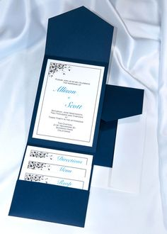Print your own Navy Blue Wedding Invitations with our DIY Elegance Kit. Includes everything you need including free printing templates for creating the perfect invitations for you. $37.50 for 20 invitations.