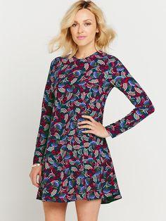 Fearne Cotton Printed Long Sleeve Swing Dress | littlewoodsireland.ie