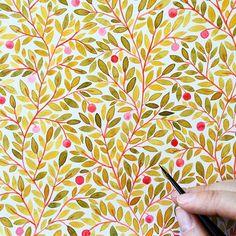 Progress! #Illustratorinminneapolis #watercolor #painting #patterns…