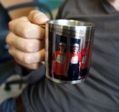 Mug en aluminium à personnaliser d'une photo couleur ou d'un message. #Mug