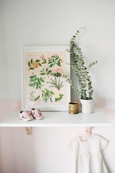Peaceful, blush girl's nursery