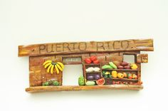 Puerto Rico Porcelain Clay Sculpture Market by TheFlamboyanTree, $38.00