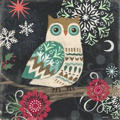 Chalkboard Owl by Jennifer Brinley | Ruth Levison Design