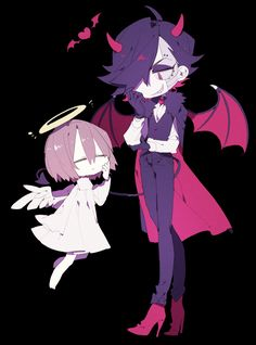 Angel! Frisk and Devil! Mettaton EX | Artist ひがお (Higa)