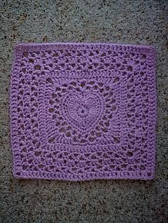 Free pattern--Center Heart Square  Image0653 by Lettice1, via Flickr