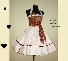 Petticoatkleider - Brautkleid Hochzeitskleid Marlena - ein Designerstück von Schneiderei-Heike-Borchers bei DaWanda