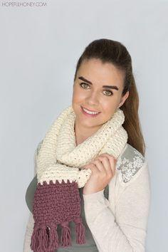 Hopeful Honey   Craft, Crochet, Create: Chunky Tasseled Scarf - Crochet Pattern
