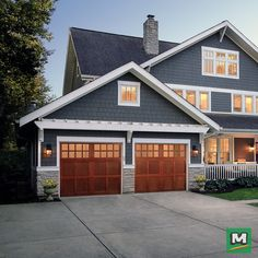 Wow the neighborhood with added curb appeal when you install a new Ideal Door garage door & Beautiful Ideal Door Garage Doors. http://www.menards.com/main ...