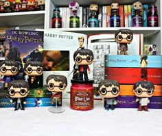 """Funko Harrys // 1,633 Likes, 24 Comments - Charnell (@reviews_from_a_bookworm) on Instagram: """" Day 1: Harry Potter or #RFABHarryXmas17 YES! It is day one of my Harry Potter challenge and I…"""""""
