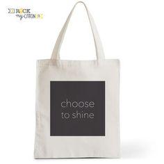 Tote Bag Rock my Citron,  Choose To Shine, Cadeaux Fêtes, Anniversaires, Naissances