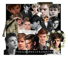 """""""Thomas Brodie sangster"""" by daisy-alien on Polyvore featuring art, themazerunner, newt, thomassangster and ThomasBrodieSangster"""