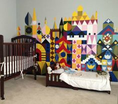 Breathtaking Disney Inspired Murals for Baby's Nursery - It's a Small World
