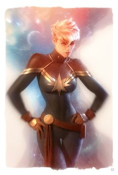 Captain Marvel – fan art by Alex Garner