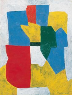 Serge Poliakoff - Composition Abstraite, 1969. Gouache on paper