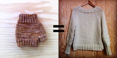 How to improvise a top-down sweater: Introduction = When a perfectly capable knitter says to me that she can't imagine knitting a sweater, I like to ask if she's ever made a fingerless mitt. You know, with a basic thumb gusset? Because, if so, she a...