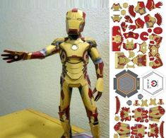 Iron Man Mark 42 Paper Toy In Micas Style - by Vladimir Micas        The Brazilian designer and artisan Vladimir Micas created a very particular style to make his paper models, what I call Micas Style. Here you can see an example of thi style in this nice Iron Man Mark 42 Armor paper toy. If you want to build your own, download the free templates at Paper Toy Art Facebook page (link at the end of this post).