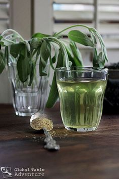 "Green tea has a number of health benefits, including assisting in weight loss and lowering ""bad"" cholestorol. Here's a tasty recipe for North African Sage and Green Tea"