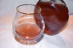 Homemade lavender honey liqueur