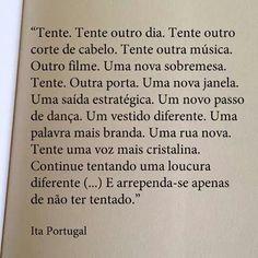 Tente outra vez ...  #ItaPortugal
