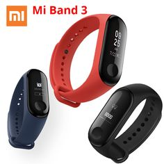 Xiaomi Mi Band 3 Miband 3 Smart Wristband With OLED Touch Screen Waterproof Heart Rate Fitness Tracker Smart Bracelet – on Aliexpress Android Activity, Fitness Tracker Bracelet, Bluetooth, Android Wear, Get Up And Walk, Caller Id, Smart Bracelet, Heart Rate, Shopping