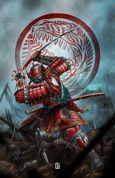 Power Rangers Fan Art, Power Rangers Samurai, Mighty Morphin Power Rangers, Arte Ninja, Ninja Art, Ronin Samurai, Samurai Warrior, Fantasy Character Design, Character Art