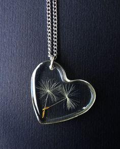 Pusteblumen Kette  Löwenzahn  Herz Charme  Pusteblumen