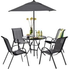Sicily 4 Seater Patio Furniture Set Black At Argos Co Uk