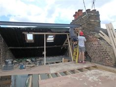 Loft conversions: Dormer loft conversion in Chiswick Dormer Loft Conversion, Loft Conversions, Dormer Roof, Steel Roofing, Terraced House, Attic Renovation, Loft Ideas, Home Repair, French Doors