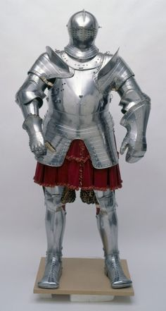 Armour of Henry VIII for the field and tilt. This armour was made in the Royal workshops at Greenwich under the direction of Erasmus Kyrkenar. The Royal workshops were founded by Henry VIII (1491-1547) in 1517. It was probably made for the jousts in celebration of the King's marriage to Anne of Cleves in January 1539/40.  - Royal Trust.