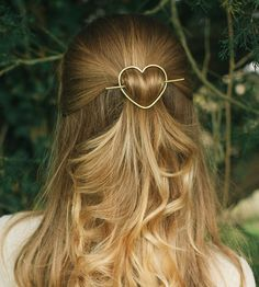Heart Barrette & Stick by Kapelika Metal Hair Accessories on Scoutmob