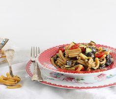 Strigoli senza glutine con pesce spada e zucchine