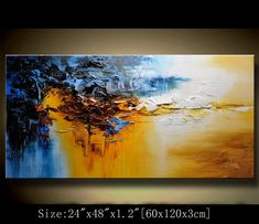 abstract art painting, Modern Textured Painting,Impasto Landscape Textured Modern Palette Knife Painting,Painting on Canvas by Chen Arte Digital Fantasy, Abstract Landscape, Abstract Art, Seascape Paintings, Art Paintings, Palette Knife Painting, Texture Painting, Contemporary Paintings, Beautiful Paintings