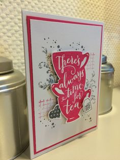 """There's always time for tea ... and you! - """"Timeless Textures"""" and """"A nice cuppa"""", Stampin' Up!"""