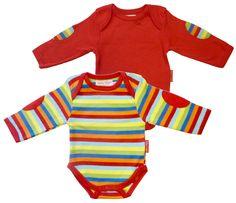Organic Cotton Baby T-Shirt 2 Pack Multi/Red £19.99