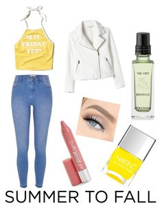 """Summer to fall layering with a summer tank and jacket"" by mckenzie-cool ❤ liked on Polyvore featuring Hollister Co., River Island, Hard Candy and Nails Inc."