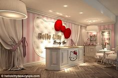 Cat that's got the cream: The Hello Kitty spa has opened in Dubai and offers a range of treatments for young and old - would love to visit here
