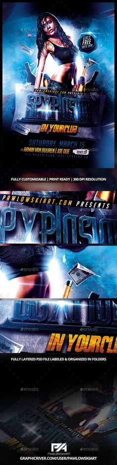 Sexplosion Party Flyer Template - Clubs & Parties Events