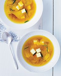 Miso Soup with Turmeric and Tofu | earthy, brilliant turmeric makes a beautiful colored soup!