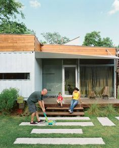 Although we really like the idea of shipping container houses, a lot of the time they look so spare and cold