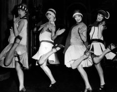 Flappers in the 1920's. Flappers were seen as brash for wearing excessive makeup, drinking, treating sex in a casual manner, smoking, driving automobiles, and otherwise flouting social and sexual norms.