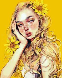 21 Must Known 2019 Tips and Idea for Art Painting - Inspiration Art, Art Inspo, Pretty Art, Cute Art, Bel Art, L'art Du Portrait, Portraits, Art Mignon, Arte Sketchbook