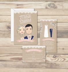 faire-part-mariage-dentelle-gypsophile-rose-craft-portrait-sur-mesure