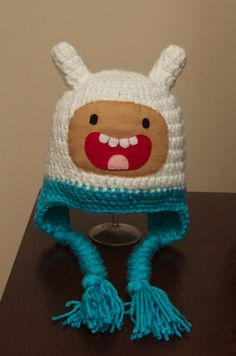 Finn the Human from Adventure Time Crocheted by JessiesPropShop, $34.00