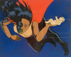 The work of Bowen Galleries' represented artist Robyn Kahukiwa. Nz Art, Maori Art, Comic Character, Artist Painting, Image Photography, Contemporary Art, Disney Characters, Fictional Characters, Concept