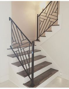 Contemporary Modern Staircase Metal Brass