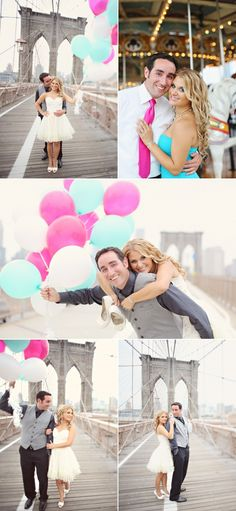 Cute Engagement Session on the Brooklyn Bridge!